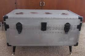 metal steamer trunk coffee table