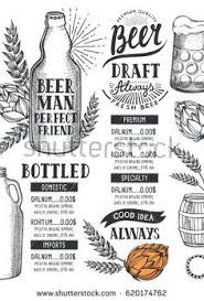 decorative beer snack bar pint glass with potato chips icons set