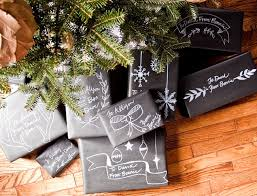 tutorial christmas chalkboard gift wrap going home to roost