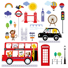 cherry creek inc bus to london peel u0026 stick kids room nursery wall