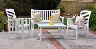 painting outdoor wood patio set makeover anika u0027s diy life