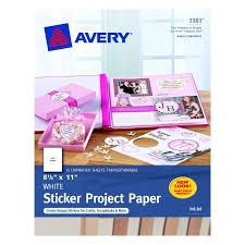 amazon com avery sticker project paper white 8 5 x 11 inches