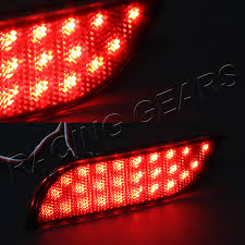 smoke lens led rear bumper reflector brake lights fit 13 15 subaru