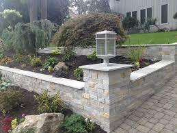 sloped driveway u0026 garden retaining walls transitional