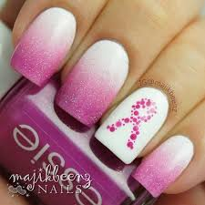 81 best nails breast cancer awareness images on pinterest