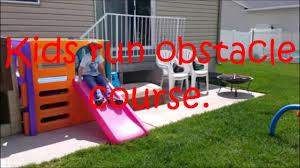 kids run backyard obstacle course youtube