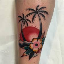 palm trees tattoos by chris northside tattooz whitley