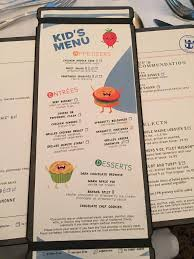 New Kids Main Dining Room Menu On Oasis Of The Seas Moms Of The Seas - Dining room menu