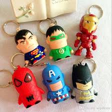 2017 superhero movie led light keychain key chain ring the