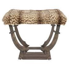 fendi casa bench with original fendi leopard silk blend upholstery