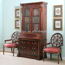 bookcase writing desk vintage secretary cabinet with drop down
