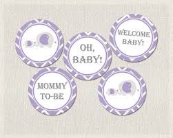 purple elephant baby shower decorations purple gray elephant theme baby shower cupcake toppers
