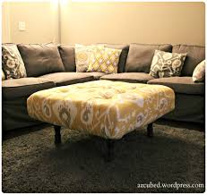 leather tufted ottoman coffee table turned diy 97aa627ba8c thippo