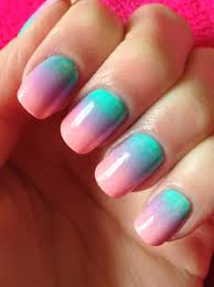 gradient nail art u2013 a sparkling finish