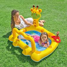 amazon com intex smiley giraffe inflatable baby pool 44 x 36 x