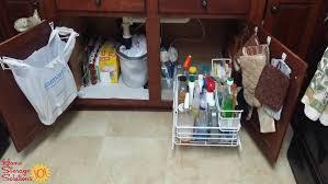 Under Kitchen Sink Cabinet Organization Ideas You Can Use - Kitchen sink area