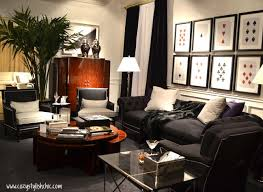 Sophisticated Black And White Living Room For The Bachelor Pad By - Ralph lauren living room designs