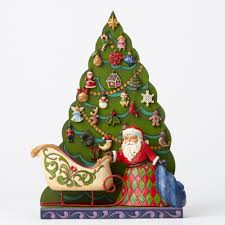 jim shore santa and tree advent calendar giftcollector