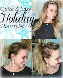 Hairstyles Easy And Quick by Breezy Days Quick And Easy Holiday Hairstyles