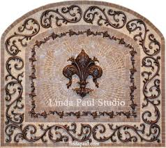 kitchen medallion backsplash fleur de lis kitchen backsplash mosaic tile medallions and di 13