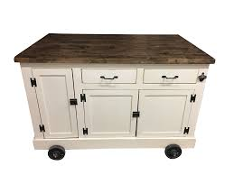 Industrial Kitchen Cart by Farmhouse Industrial Kitchen Island With Handy Roll Out Trash