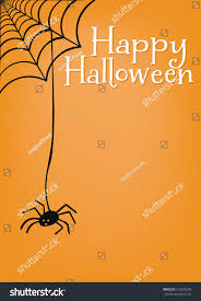 happy halloween cover photos happy halloween spider web spider message stock vector 215670298