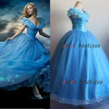 cinderella princess dress blue kids party deluxe