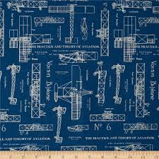 theory of aviation blueprint blue discount designer fabric