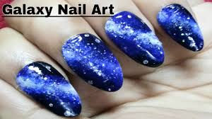 best galaxy nail art designs using sponge after manicure 2017