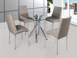 Dining Tables With 4 Chairs Round Glass Dining Table And Chair Set Starrkingschool