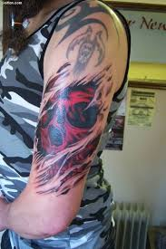 scary skull and 3d ripped skin golfian com
