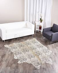 Zebra Laminate Flooring Baby Zebra Print Cowhide Rug Fursource Com