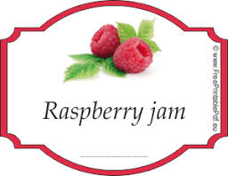 raspberry jam labels for free free printable pdf