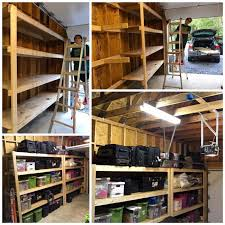 Free Wooden Garage Shelf Plans by Diy Garage Storage Favorite Plans Ana White Woodworking Projects