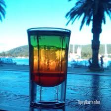 bob marley shot recipe red layer grenadine yellow layer