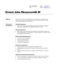 Music Resume Template Sound Engineer Resume Sample Free Resume Example And Writing
