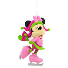 disney minnie mouse skating ornament
