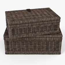 wicker basket 06 walnut brown color by markelos 3docean