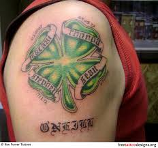 9 shoulder irish tattoos