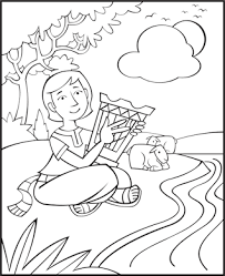 free bible coloring pages david the good shepherd