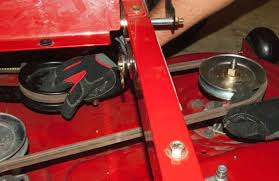 how to replace the blade belt on a zero turn riding mower repair