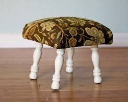 running with scissors upholstered footstool ballard design knock