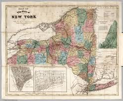 Map Of State Of New York by Map Of The State Of New York With The Latest Improvements David