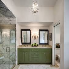 his and her bathroom imaginative green cabinets interior designs with chandelier his