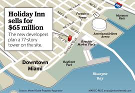 Miami On Map by Holiday Inn In Downtown Miami Sells For 65 Million Miami Herald