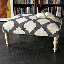 Printed Ottomans Decorating With Patterned Upholstered Furniture
