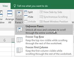 freeze panes to lock rows and columns excel