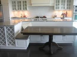 built in kitchen islands with seating simple amazing kitchen island with built in seating 35 large kitchen