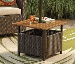 Outside Bistro Table Bar Panama Jack Island Cove Woven Slatted Bar Height Patio Pub