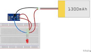 Led Blinking Circuit Diagram Internet Controlled Led Using Esp8266